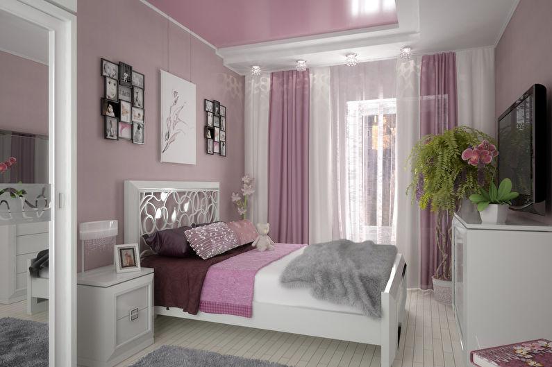 Conception de chambre rose de style provençal