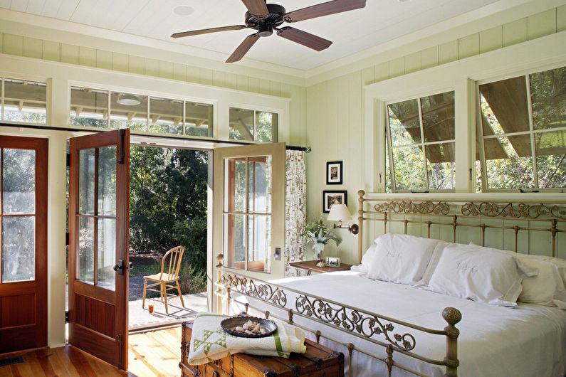 Design de chambre vert clair de style provençal