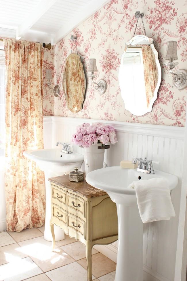 Style provençal dans un magnifique intérieur de salle de bain