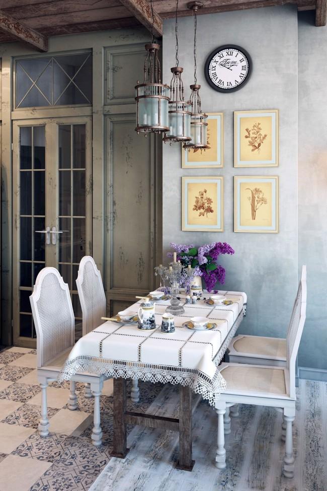 Comme vous pouvez le voir dans le projet de conception, la Provence se caractérise par l'absence d'éléments de mobilier en chrome ou en plastique, d'équipements et d'attributs modernes.