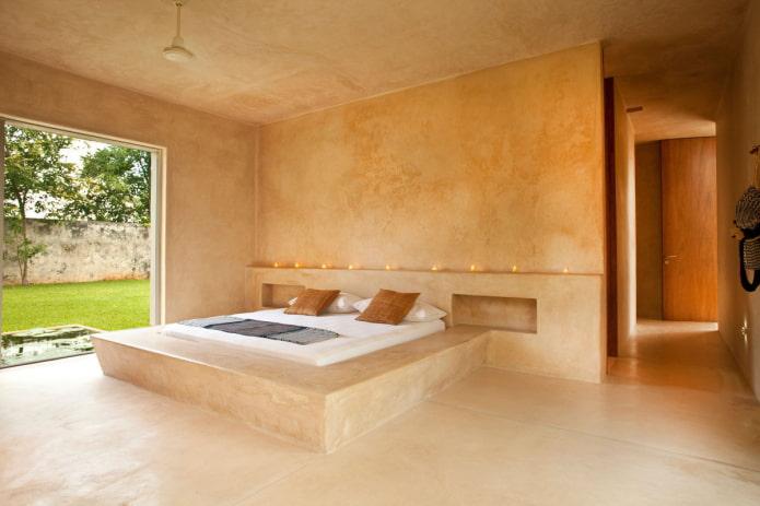 plâtre structurel à l'intérieur de la chambre