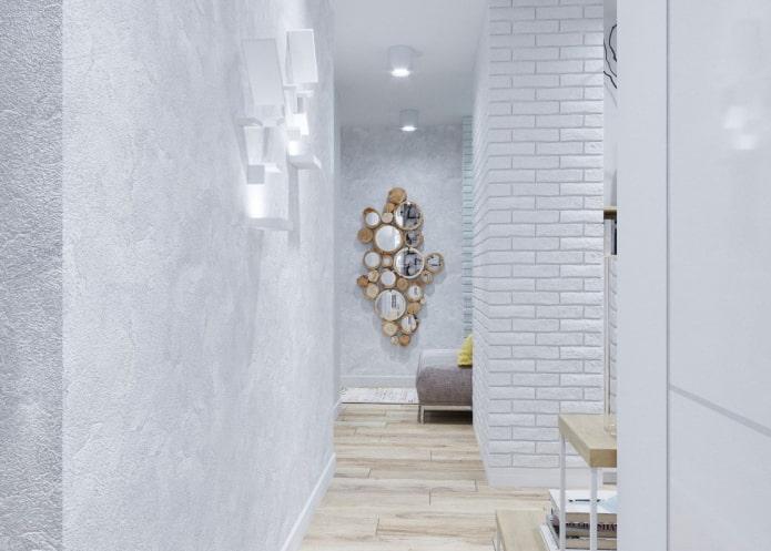 plâtre blanc à l'intérieur du couloir
