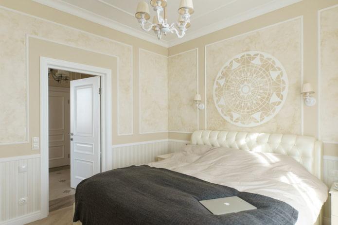 plâtre beige à l'intérieur de la chambre