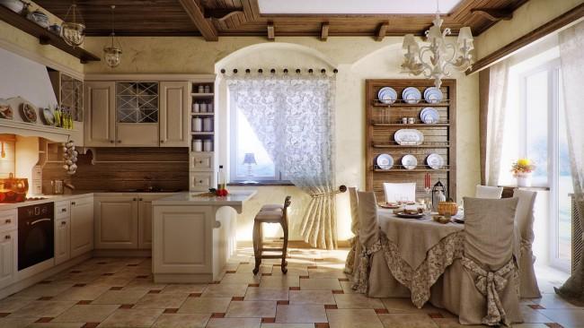 Charmant style provençal et tulle blanc traditionnel à motif floral