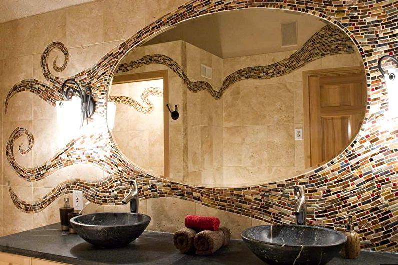 Types de miroirs de salle de bain - Miroir mural