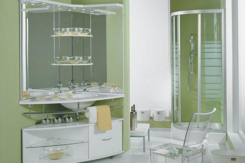 Types de miroirs de salle de bain - Miroir d'angle