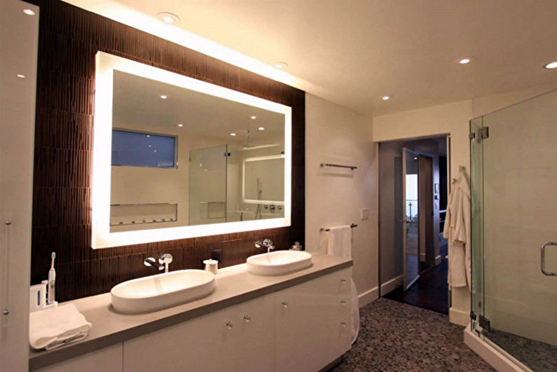 Miroir de salle de bain - Formes et tailles