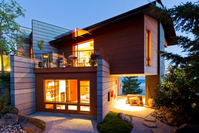 maison en bois de haute technologie