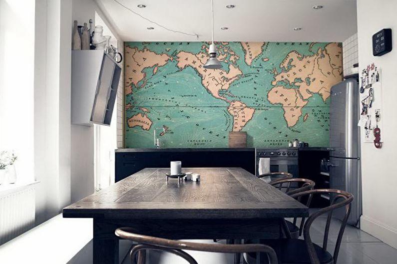 Papiers peints et peintures murales de cuisine - Types
