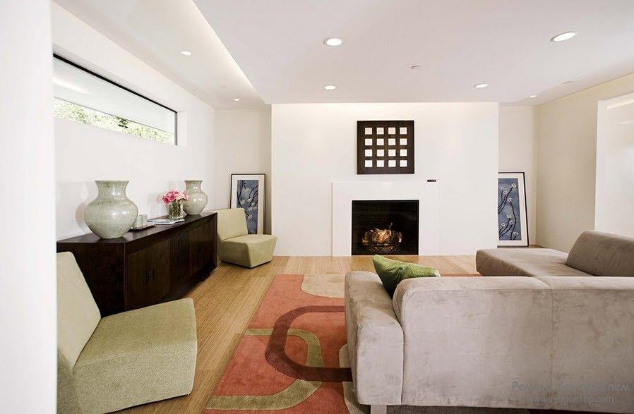 Les plafonds à deux niveaux aident à diversifier qualitativement l'intérieur