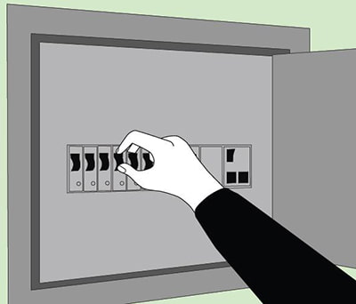 couper l'électricité