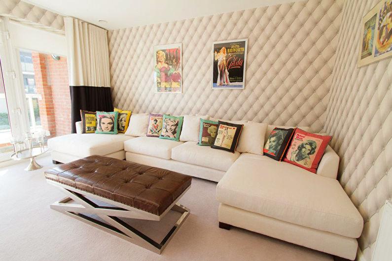Papier peint beige à l'intérieur - Demi-teintes et gamme monochrome