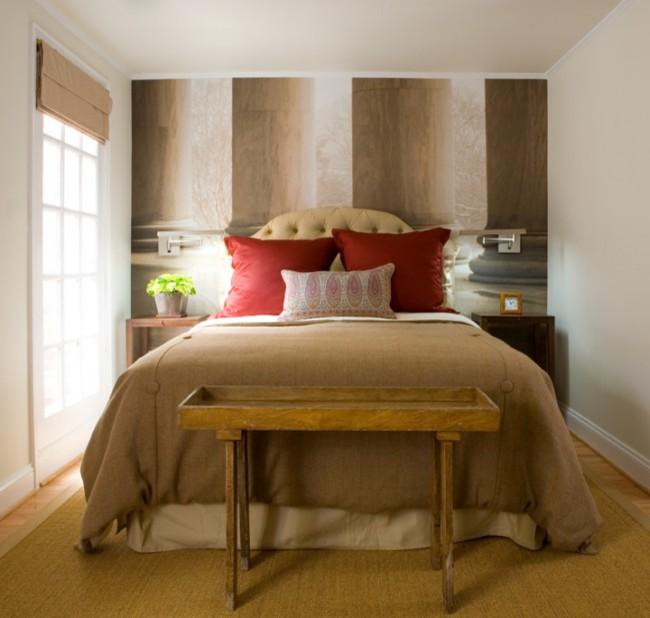 Si vous aimez le rouge, il peut également être utilisé dans la conception de votre chambre à coucher, il existe de nombreuses nuances de rouge et elles se marient bien avec les couleurs pastel ou beige.