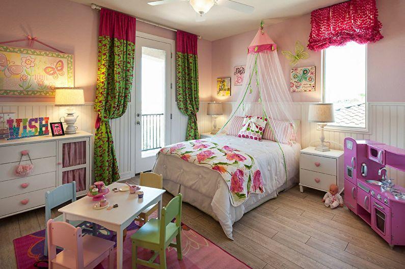 Caractéristiques de la conception d'une chambre d'enfant pour une fille