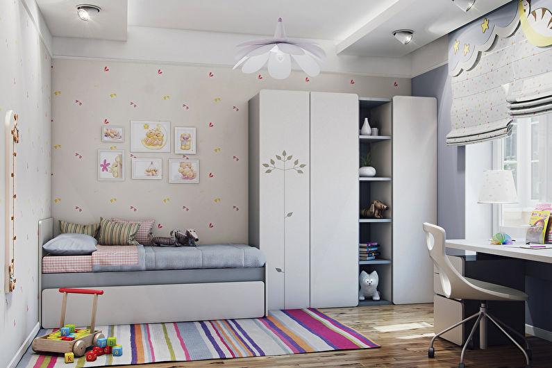 Conception d'une chambre d'enfant pour une fille dans un style moderne