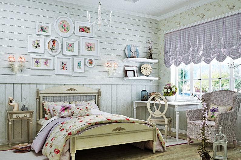 Conception d'une chambre d'enfant pour une fille de style provençal