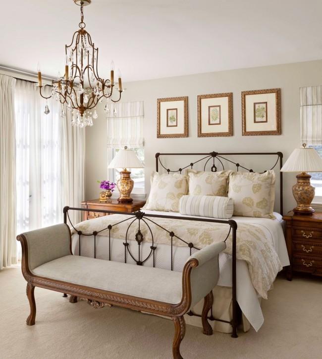 Chambre confortable dans un style classique