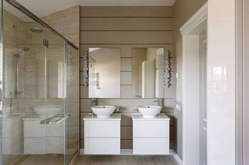 Salle de bain avec douche dans un style moderne