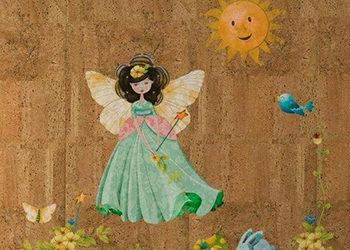 papier peint en liège pour chambre d'enfant