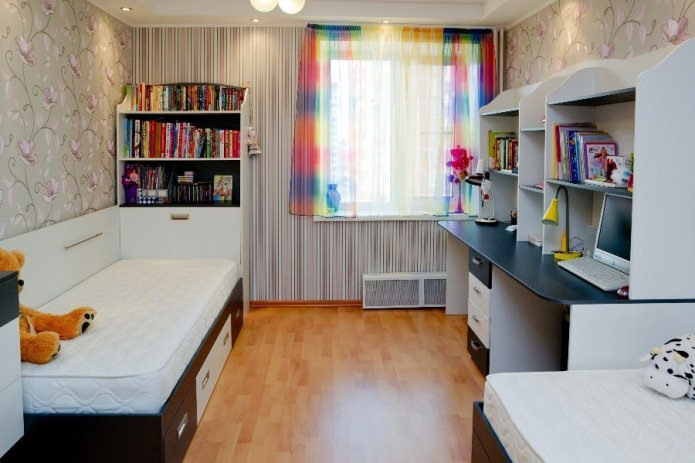 papier peint dans la chambre des enfants pour un enfant de 9 à 12 ans
