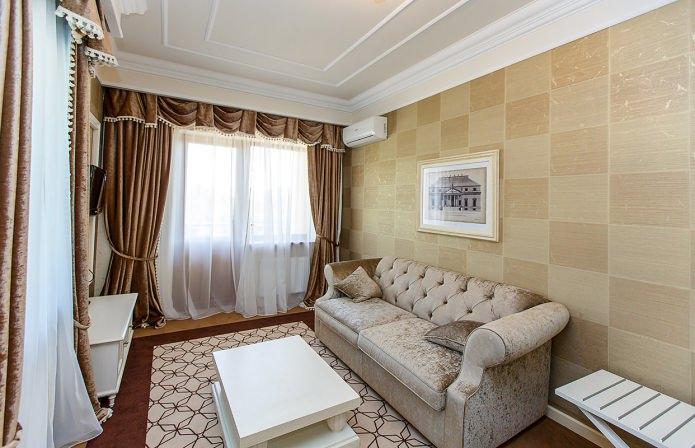 papier peint marron pour le salon