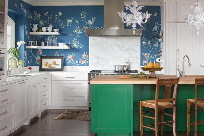 Décoration murale dans la cuisine - Papier peint