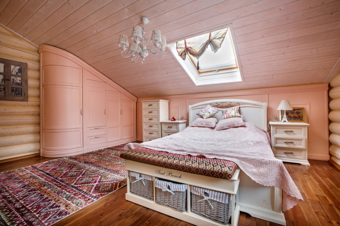 Intérieur de chambre de style provençal