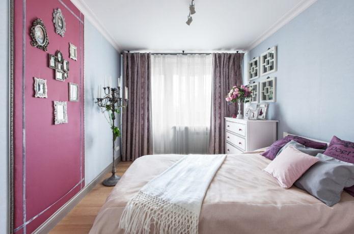 textiles et décoration à l'intérieur de la chambre dans le style provençal