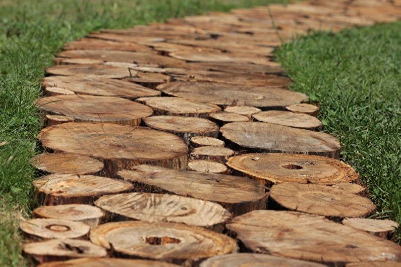 Allées de jardin bricolage - Cales en bois