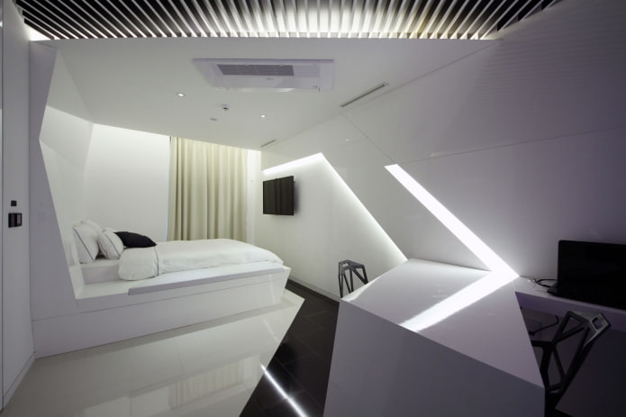 plafond combiné dans la chambre