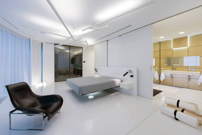 chambre avec lit flottant