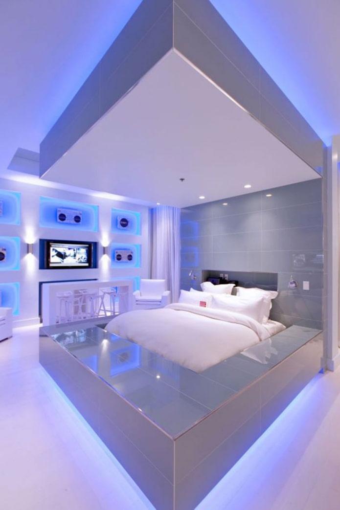 éclairage décoratif dans la chambre
