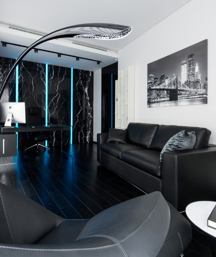 lampadaire au lieu d'un lustre dans le salon