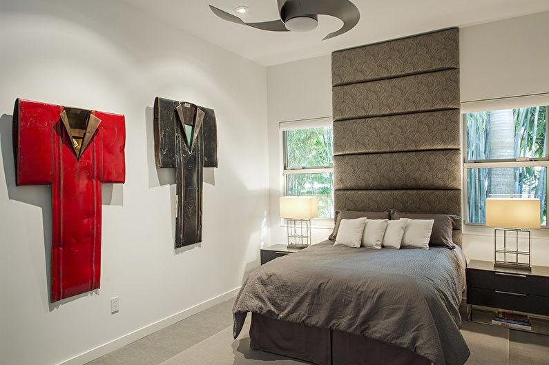 Conception de la chambre 12 m²  dans un style moderne
