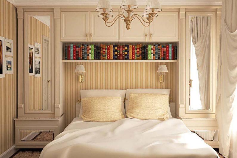 Conception de la chambre 12 m²  dans un style classique