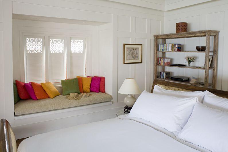 Aménagement intérieur d'une chambre de 12 m².  - palette de couleurs