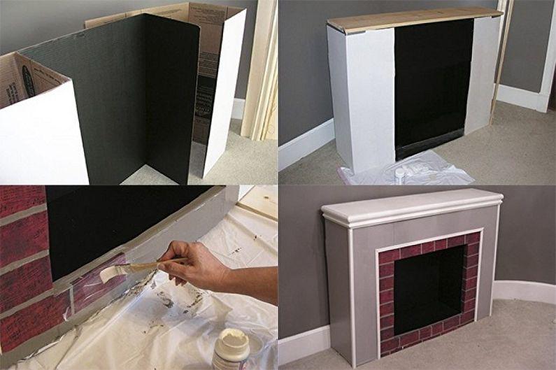 Faire un cadre d'une fausse cheminée de vos propres mains - À partir d'une grande boîte d'emballage