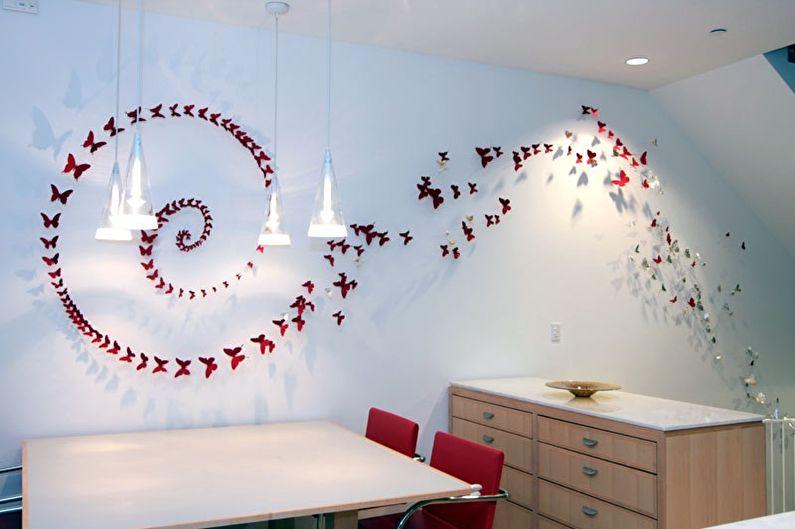 Papillons au mur - Compositions murales de papillons