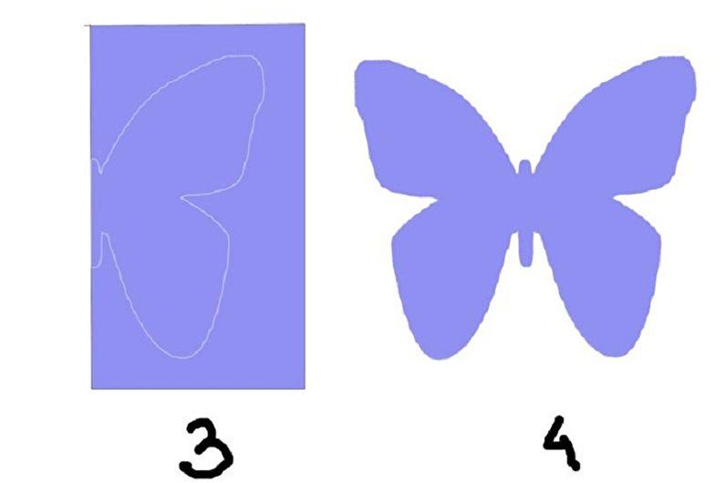 DIY papillons au mur - Papillons en papier et carton