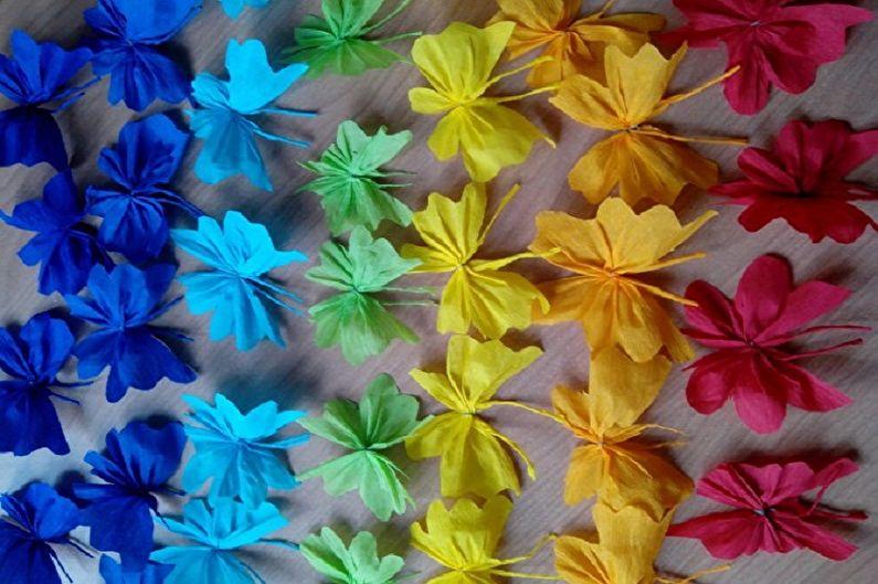 Papillons sur le mur de vos propres mains - Papillons en papier ondulé