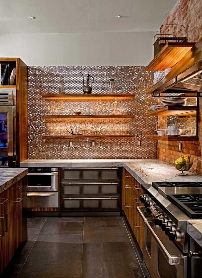 La disposition classique d'une cuisine d'angle, dont le casque est installé sous un mur