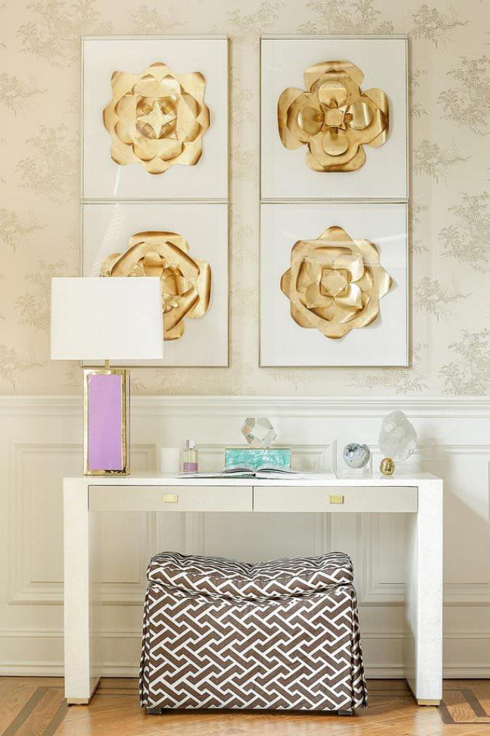 combinaison de papier peint beige