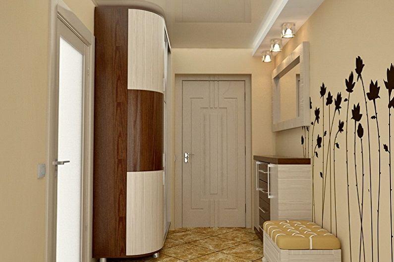Couloir - Conception de pièce rectangulaire