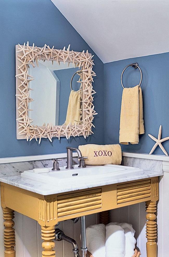 L'exécution créative du cadre du miroir apportera une note d'originalité à l'intérieur