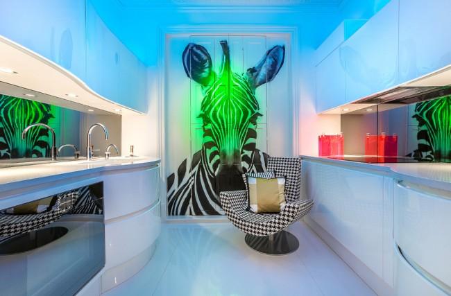 Les peintures murales rendront l'intérieur de la cuisine élégant et original