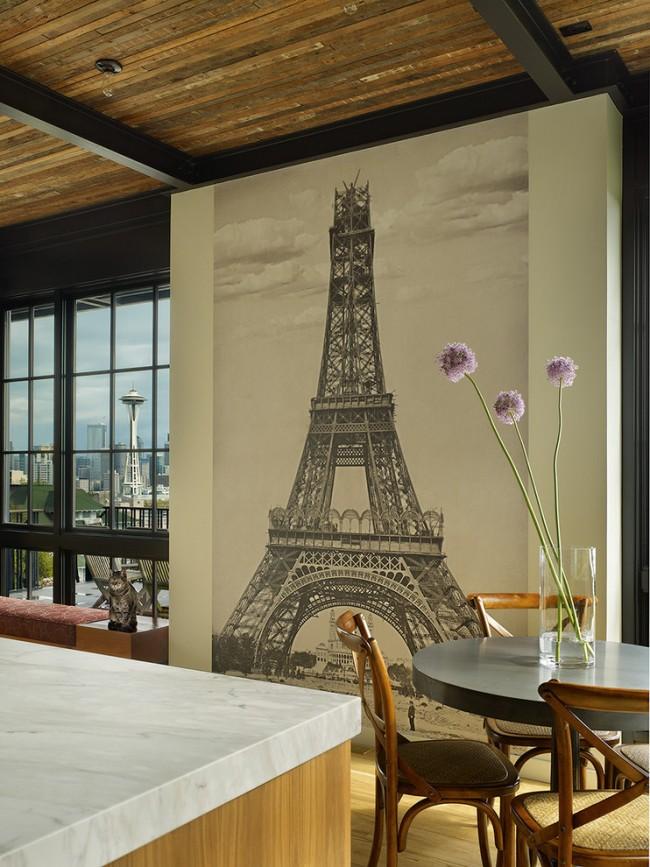 Une idée populaire avec des vues intéressantes sur la Tour Eiffel - un charme intemporel
