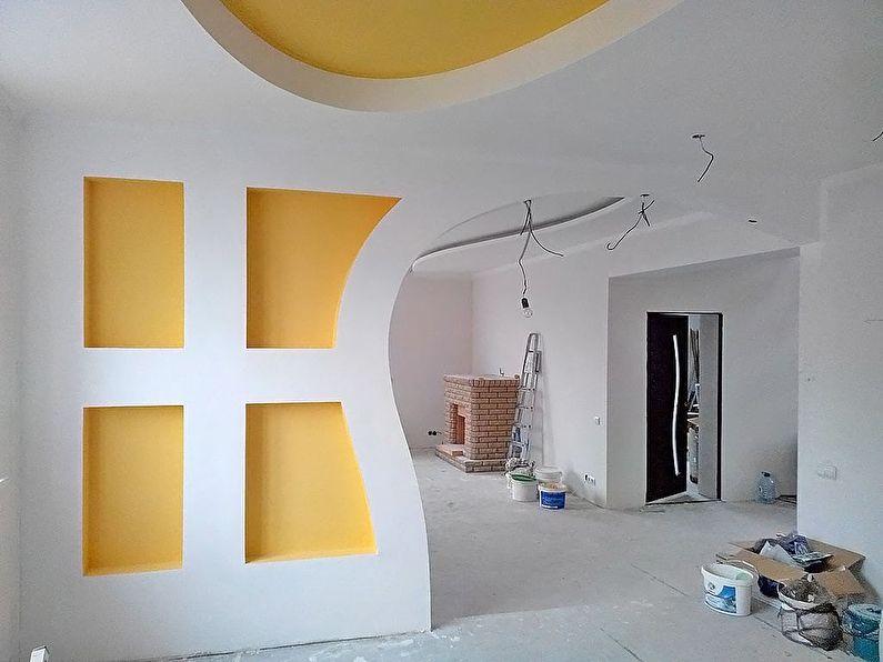 Peinture - finition et décoration de l'arche en plaques de plâtre