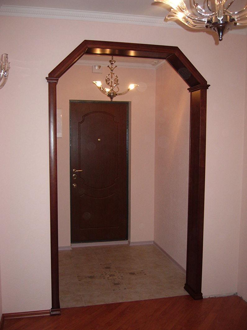 Arcs trapézoïdaux en cloison sèche - design, photo à l'intérieur