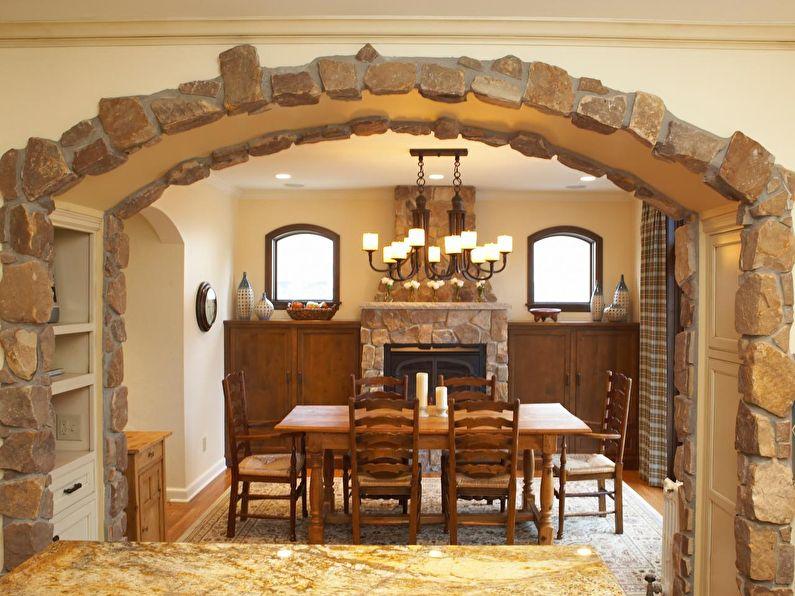 Pierre décorative - décoration et décoration de l'arche en plaques de plâtre