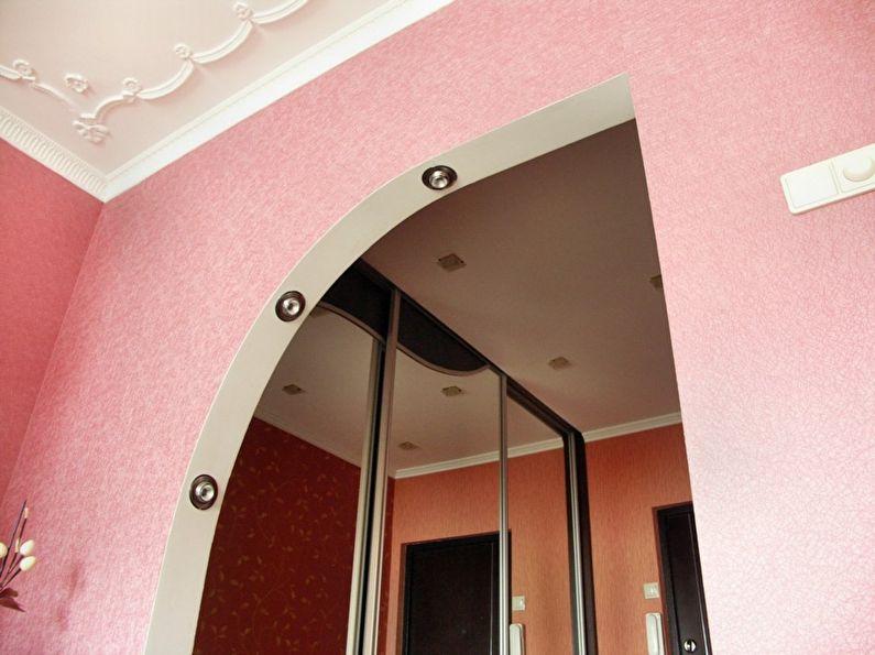Papier peint - décoration et décoration de l'arche en plaques de plâtre